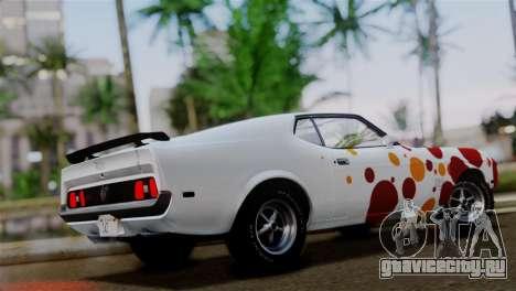Ford Mustang Mach 1 429 Cobra Jet 1971 HQLM для GTA San Andreas салон