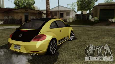 Volkswagen New Beetle 2014 GSR для GTA San Andreas вид слева