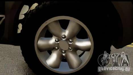 Toyota Hilux SW4 2009 ROTA для GTA San Andreas вид сзади