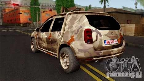 Dacia Duster Army Skin 4 для GTA San Andreas вид слева