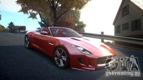 Jaguar F-Type v1.6 Release [EPM] для GTA 4 вид изнутри