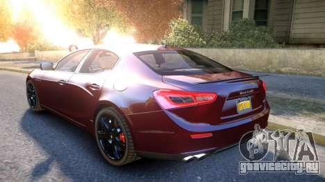 Maserati Ghibli 2014 v1.0 для GTA 4 вид сзади слева