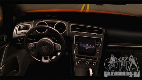 Volkswagen Golf GTI 2014 для GTA San Andreas вид справа