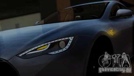 Tesla Model S 2014 для GTA San Andreas вид сзади