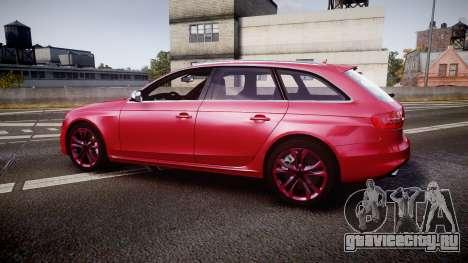 Audi S4 Avant 2013 для GTA 4 вид слева