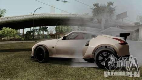Nissan 370Z Nismo для GTA San Andreas вид сзади слева