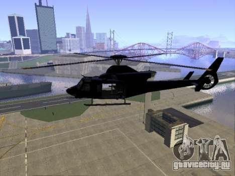 GTA 5 Valkyrie для GTA San Andreas вид сзади