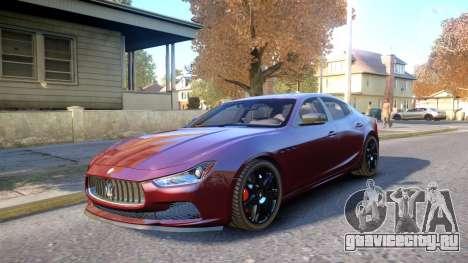 Maserati Ghibli 2014 v1.0 для GTA 4 вид изнутри