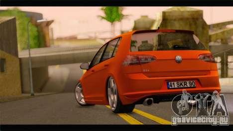 Volkswagen Golf GTI 2014 для GTA San Andreas вид слева