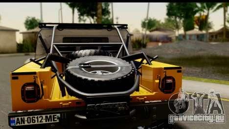 Hummer H1 6-Wheel для GTA San Andreas вид справа