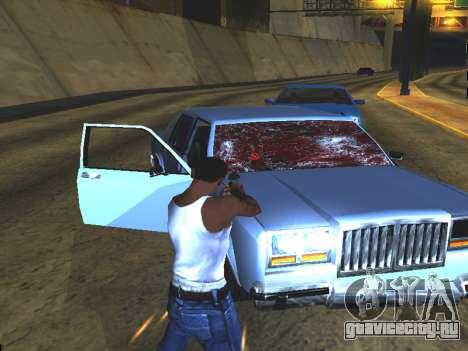 Кровь на окнах автомобиля для GTA San Andreas четвёртый скриншот