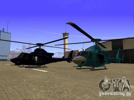 GTA 5 Valkyrie для GTA San Andreas вид сбоку
