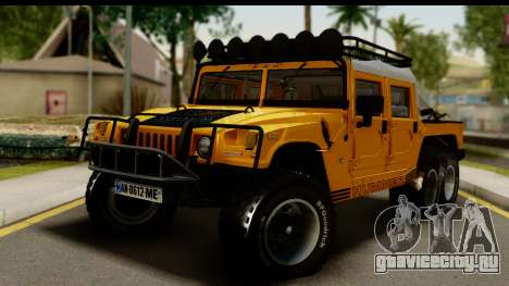 Hummer H1 6-Wheel для GTA San Andreas