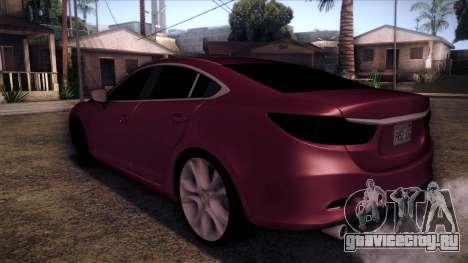 Mazda 6 2013 HD v0.8 beta для GTA San Andreas вид слева