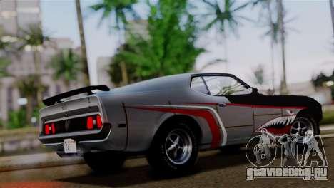 Ford Mustang Mach 1 429 Cobra Jet 1971 HQLM для GTA San Andreas вид снизу