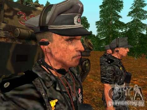 Немецкий офицер танковых войск для GTA San Andreas третий скриншот