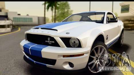 Ford Mustang Shelby GT500KR для GTA San Andreas вид сзади слева