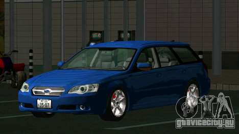 Subaru Legacy Touring Wagon 2003 для GTA San Andreas вид сзади слева