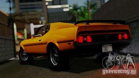 Ford Mustang Mach 1 429 Cobra Jet 1971 HQLM для GTA San Andreas вид слева