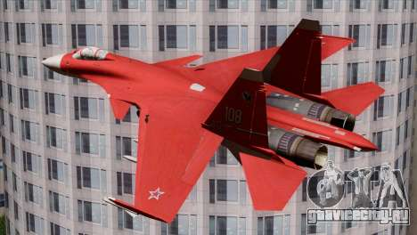 SU-37 Flanker-F Soviet Parade для GTA San Andreas вид слева