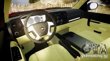 Chevrolet Silverado 1500 LT Extended Cab wheels2 для GTA 4 вид сзади
