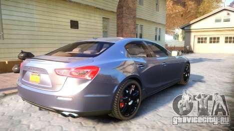 Maserati Ghibli 2014 v1.0 для GTA 4 вид справа
