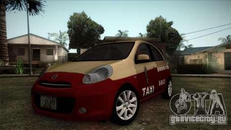 Nissan Micra Taxi DF 2012 для GTA San Andreas
