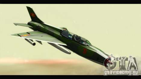Mikoyan-Gurevich MIG-21UM Vietnam Air Force v2.0 для GTA San Andreas