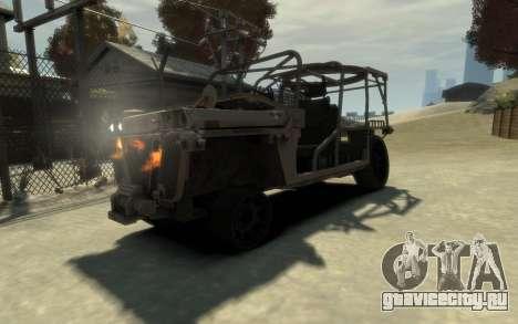 M1161 Growler для GTA 4 вид сзади
