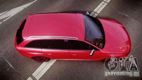 Audi S4 Avant 2013 для GTA 4 вид справа