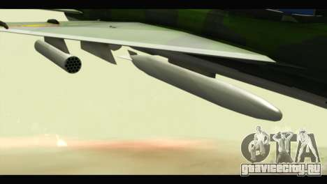 Mikoyan-Gurevich MIG-21UM Vietnam Air Force v2.0 для GTA San Andreas вид справа