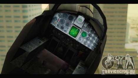 Northrop F-5E Top Gun для GTA San Andreas вид сзади