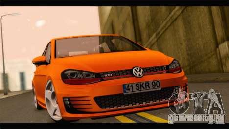 Volkswagen Golf GTI 2014 для GTA San Andreas вид сзади слева