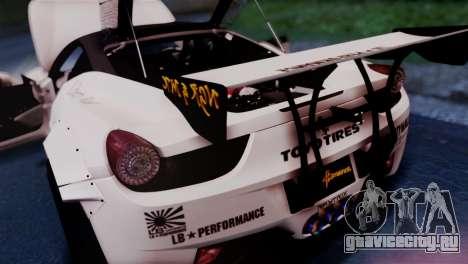 Ferrari 458 Italy Liberty Walk LB Performance для GTA San Andreas вид сзади