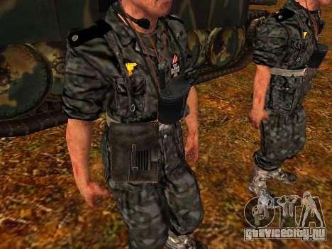 Немецкий офицер танковых войск для GTA San Andreas четвёртый скриншот