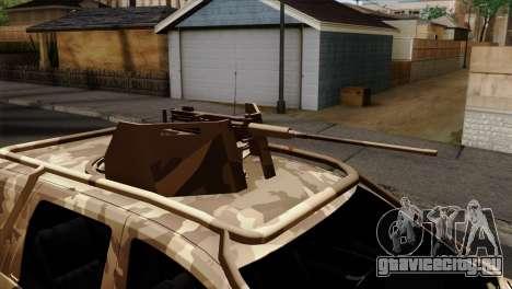 Dacia Duster Army Skin 4 для GTA San Andreas вид сзади