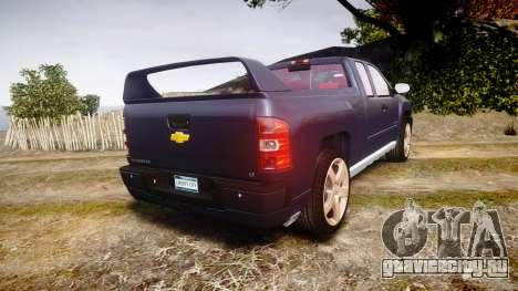 Chevrolet Silverado 1500 LT Extended Cab wheels2 для GTA 4 вид сзади слева