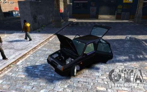 ВАЗ 2109 для GTA 4 вид сзади