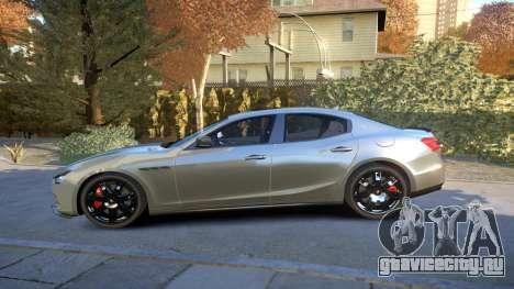 Maserati Ghibli 2014 v1.0 для GTA 4 вид слева
