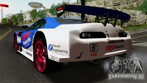 Toyota Supra 2005 EXXON SuperFlo для GTA San Andreas вид слева