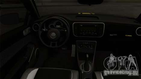 Volkswagen New Beetle 2014 GSR для GTA San Andreas вид сзади слева