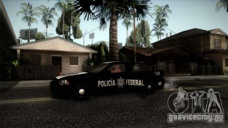 Dodge Charger 2013 Policia Federal Mexico для GTA San Andreas вид сзади слева