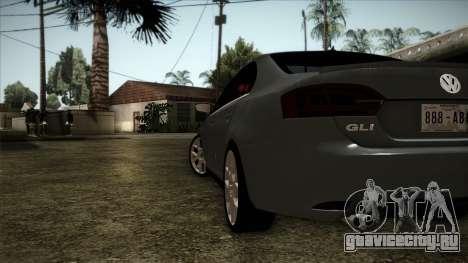 Volkswagen Jetta GLI Edition 30 2014 для GTA San Andreas вид сзади слева