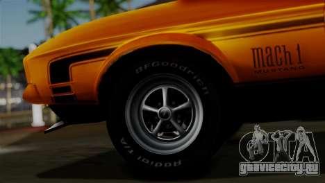 Ford Mustang Mach 1 429 Cobra Jet 1971 HQLM для GTA San Andreas вид сзади слева