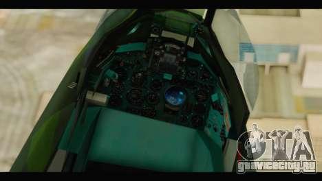 Mikoyan-Gurevich MIG-21UM Vietnam Air Force v2.0 для GTA San Andreas вид сзади