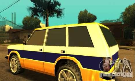 Luni Huntley для GTA San Andreas вид сверху