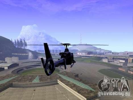 GTA 5 Valkyrie для GTA San Andreas вид сзади слева