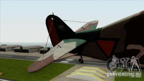 Fokker D.XXI для GTA San Andreas вид сзади слева