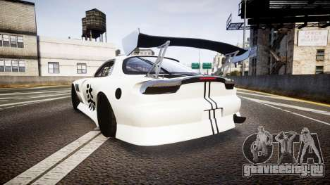 Mazda RX-7 Mad Mike Final Update three PJ для GTA 4 вид сзади слева