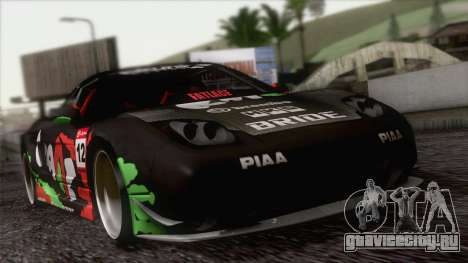 Acura NSX Miku Ghoul Itasha для GTA San Andreas вид сверху